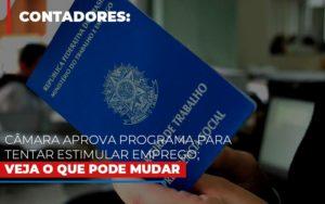 Camara Aprova Programa Para Tentar Estimular Emprego Veja O Que Pode Mudar Contabilidade - Contabilidade em Florianópolis | Rocha Contabilidade Digital